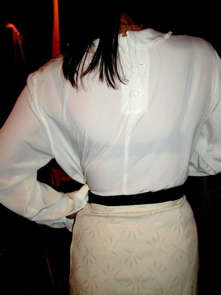OL白ブラウス透けブラジャー美乳フェチエロ画像8枚目