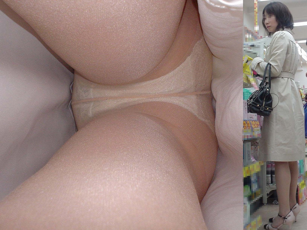 OLタイトスカートパンティ下着覗き願望エロ画像3枚目