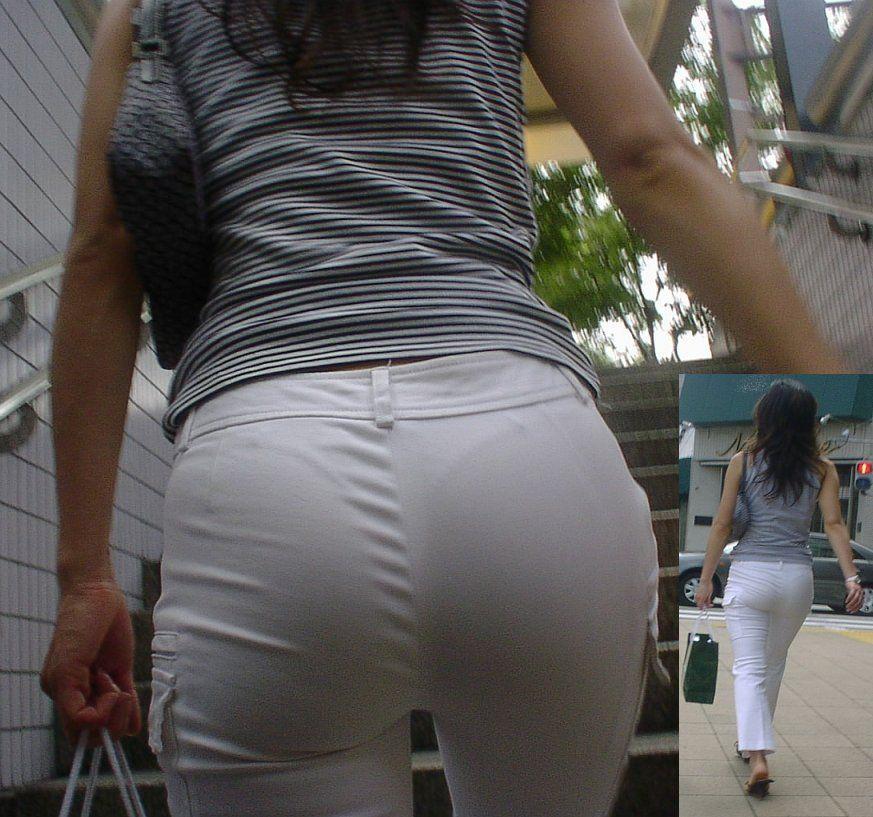パンティーが透けちゃう白パンツルックOLお姉さん画像12枚目