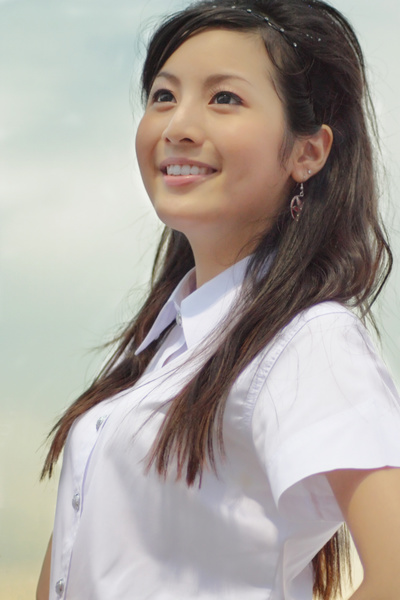 タイ女子大生のタイトスカート白ブラウスが眩しい!13枚目
