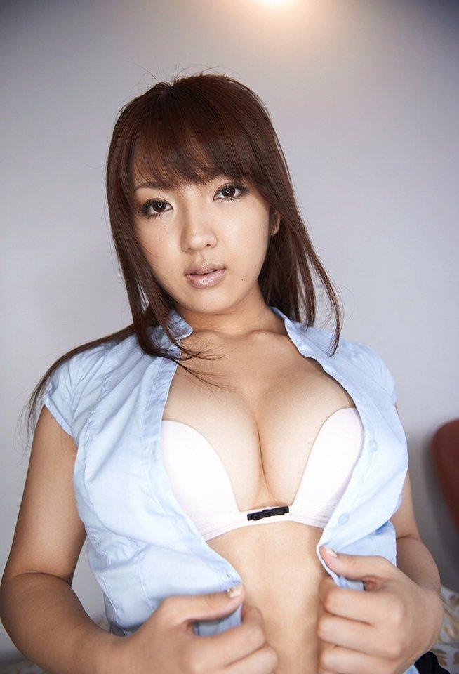 メガネ巨乳白ブラウスミニタイトスカートOLお姉さん4枚目