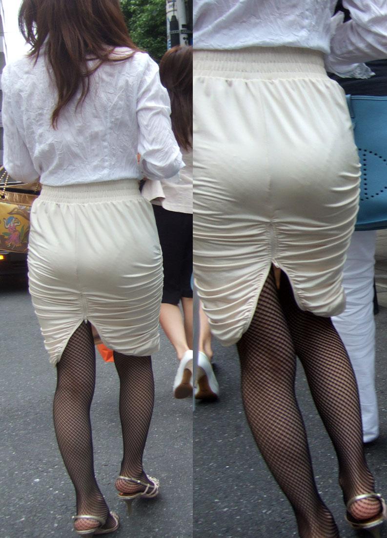 働くお姉さんのタイトスカートと黒パンスト姿がエロイ11枚目