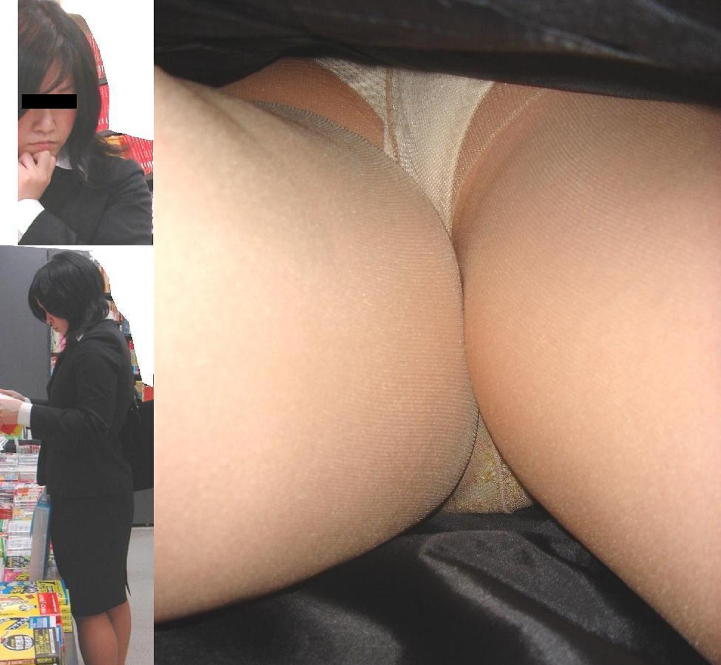 素人OLお姉さんのスカートの中身を逆さ撮りしたエロ画像1枚目
