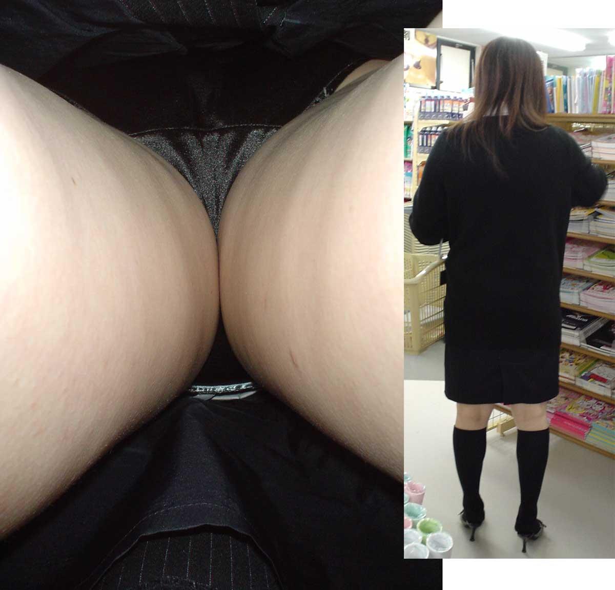 素人OLお姉さんのスカートの中身を逆さ撮りしたエロ画像14枚目