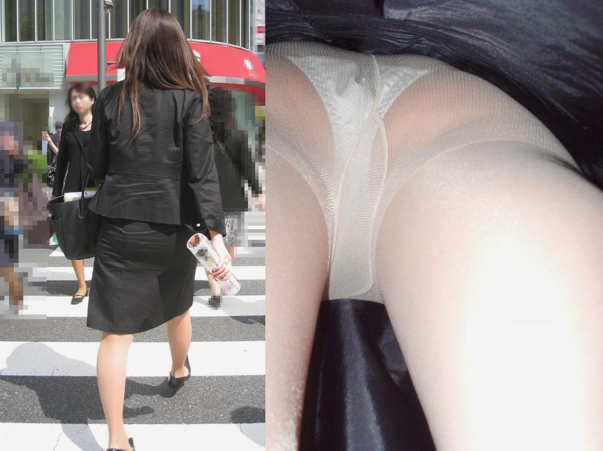 素人OLお姉さんのスカートの中身を逆さ撮りしたエロ画像15枚目