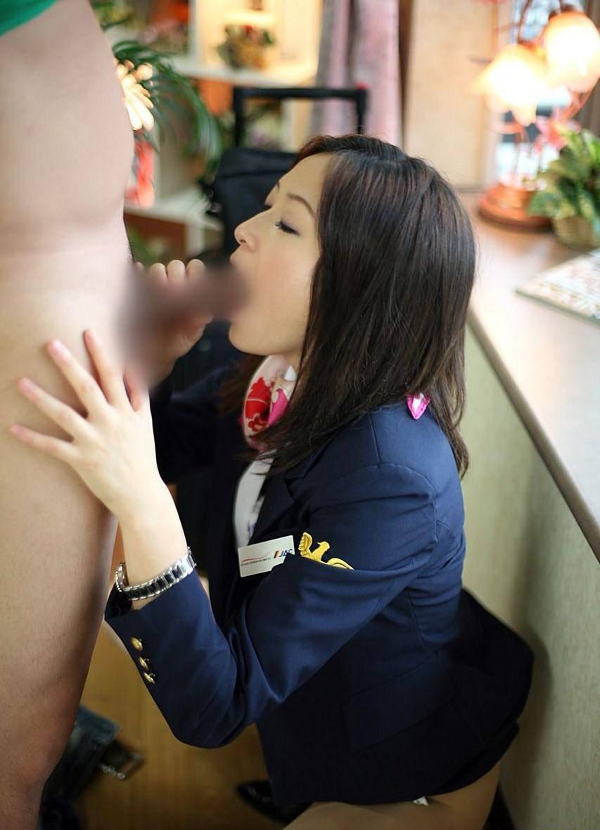 夜行バスガイド深夜の着衣制服セックスエロ画像9枚目