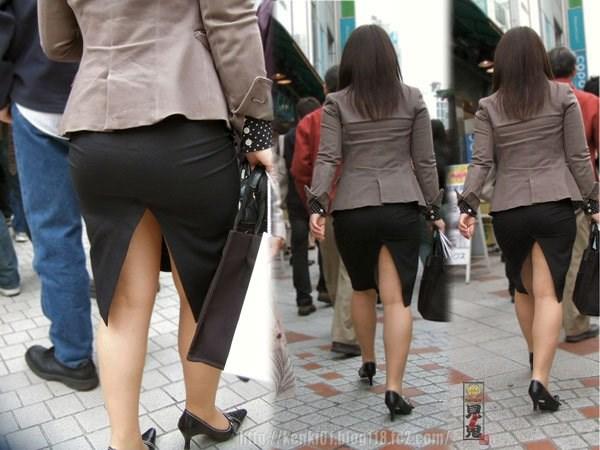 OL盗撮タイトスカートパンチラベンツエロ画像4枚目