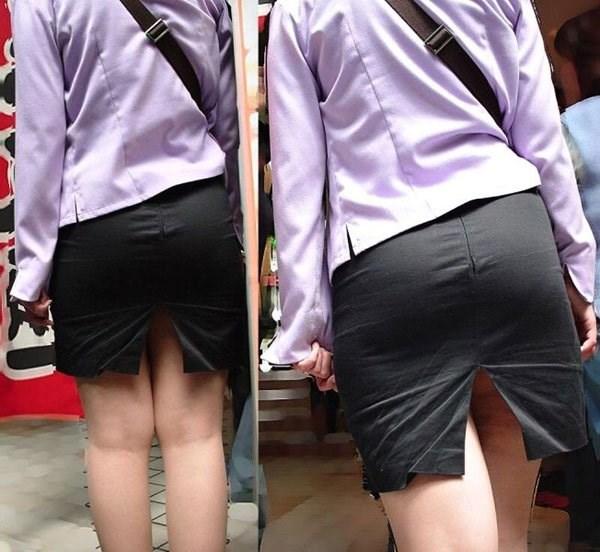 OL盗撮タイトスカートパンチラベンツエロ画像13枚目