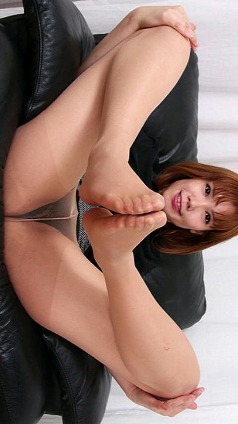 M男向けベージュパンストつまさき足コキエロ画像15枚目