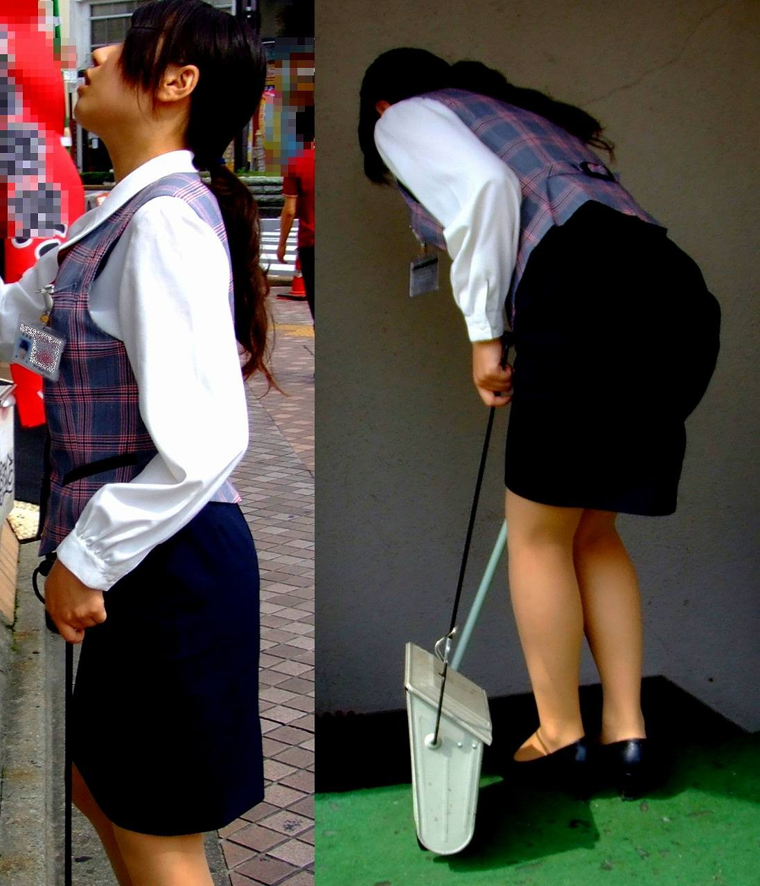 ふくらはぎフェチのタイトスカートOLエロ画像10枚目