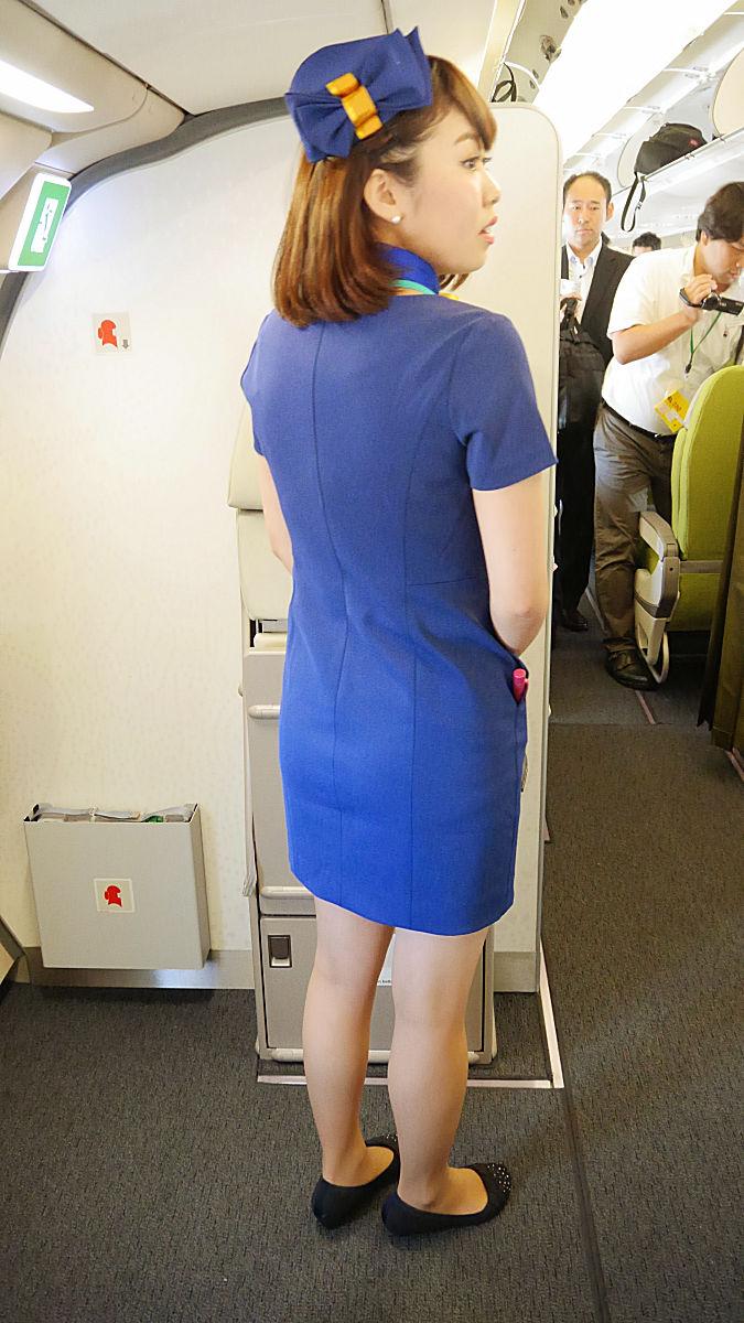 フライト前巨乳メガネCAの着衣フェラエロ画像2枚目
