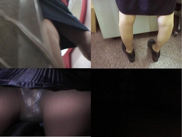 逆さ撮りOLスカートの中のパンストパンティ16枚目