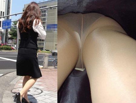 OLのスカートを真下から見上げるパンチラ画像6枚目