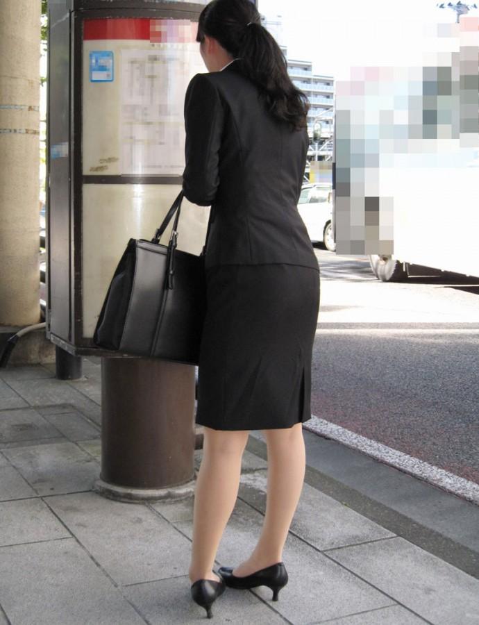 街撮りOLタイトスカート尻の形に一目惚れ画像6枚目