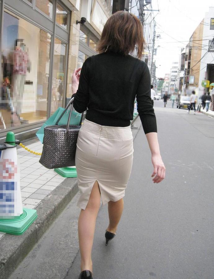 街撮りOLタイトスカート尻の形に一目惚れ画像7枚目