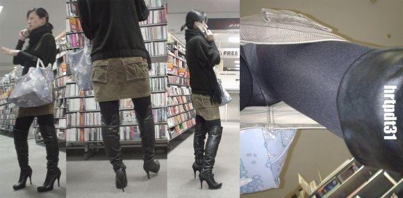 美人OLの街中スカート逆さ撮りパンモロ画像4枚目