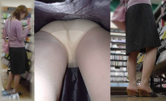 美人OLの街中スカート逆さ撮りパンモロ画像8枚目