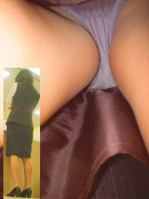 美人OLの街中スカート逆さ撮りパンモロ画像11枚目