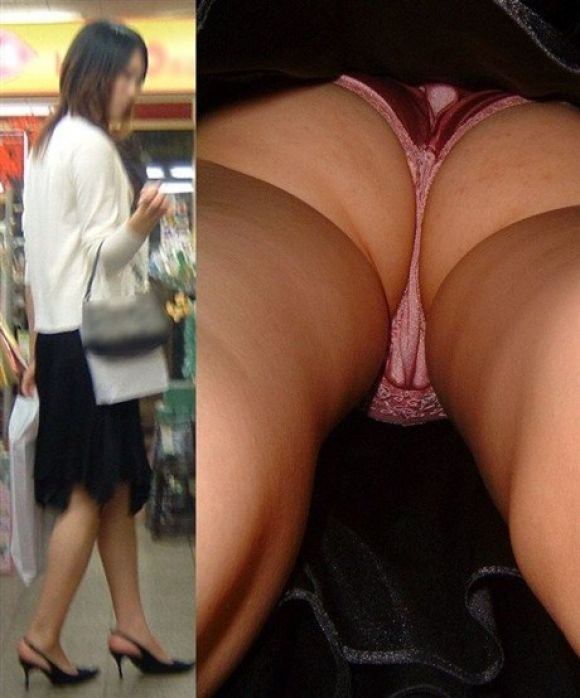 買い物中の私服OLお姉さんのスカート内を逆さ撮り11枚目