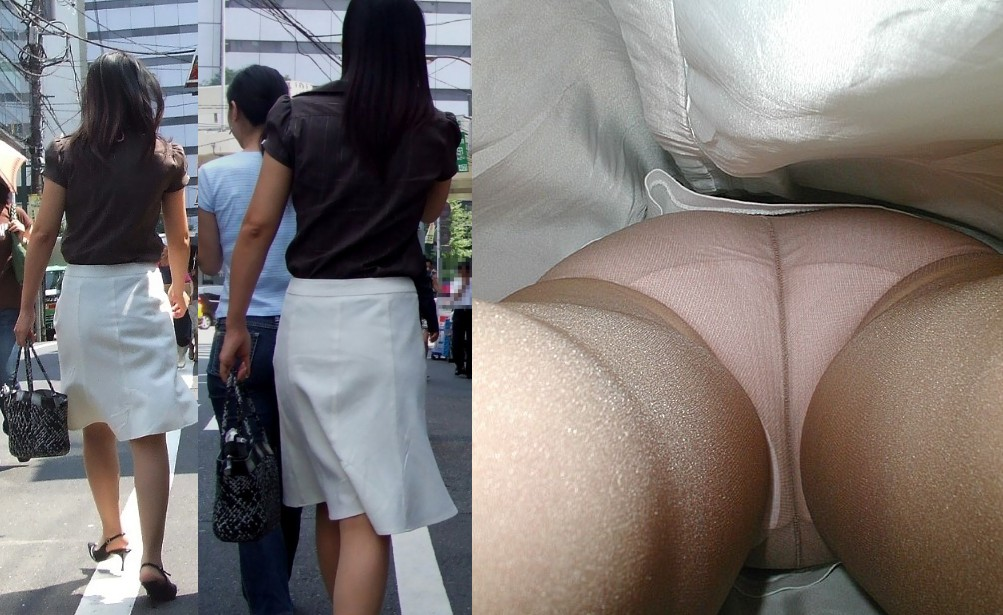 買い物中の私服OLお姉さんのスカート内を逆さ撮り14枚目