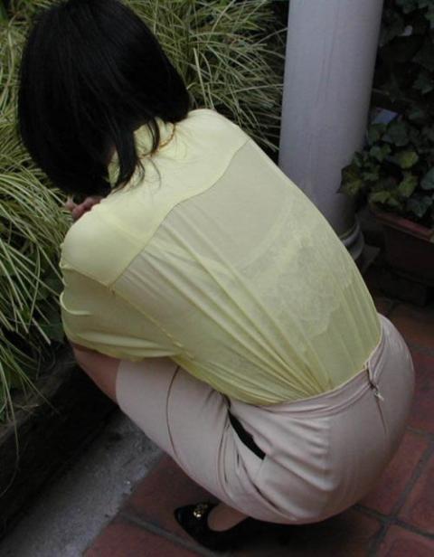 ブラジャー丸見えブラ透けブラウスとシャツ画像9枚目