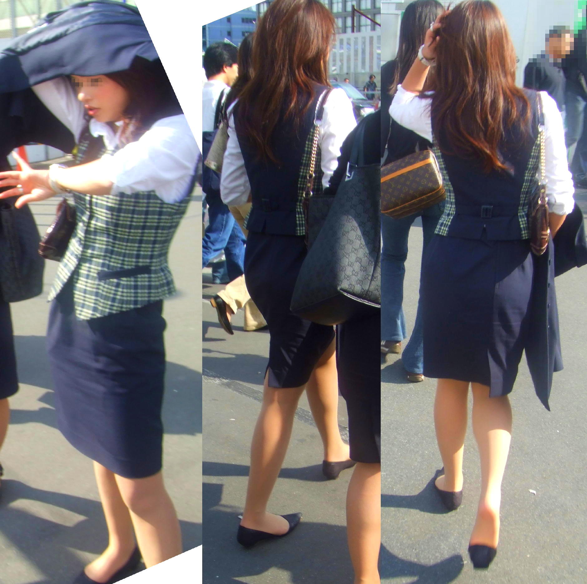 OLのブレザーとタイトスカート姿にフェチを感じるエロ画像11枚目