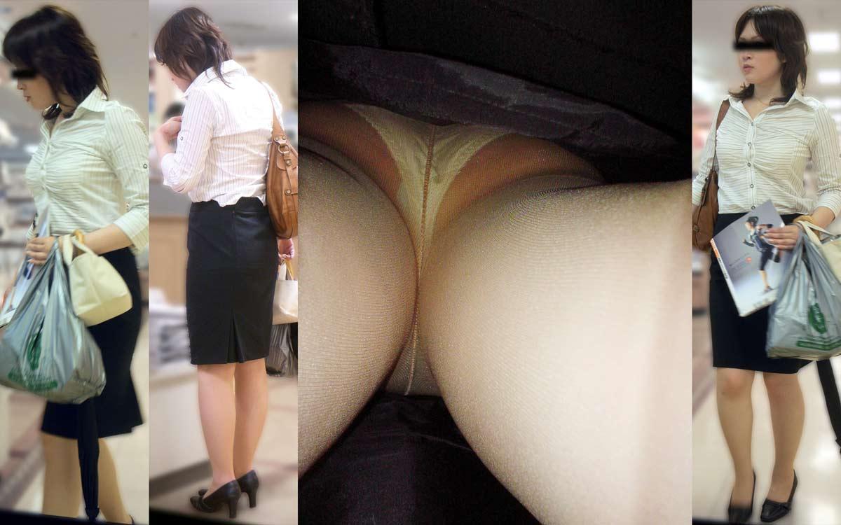 OLお姉さんのスカート逆さ撮りパンチラ画像6枚目