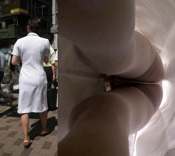 逆さ撮りされた白衣の天使ナースのおパンツ9枚目