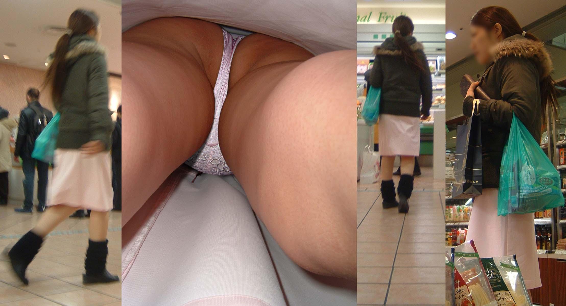 ナースのスカート逆さ撮りパンストパンティ画像6枚目