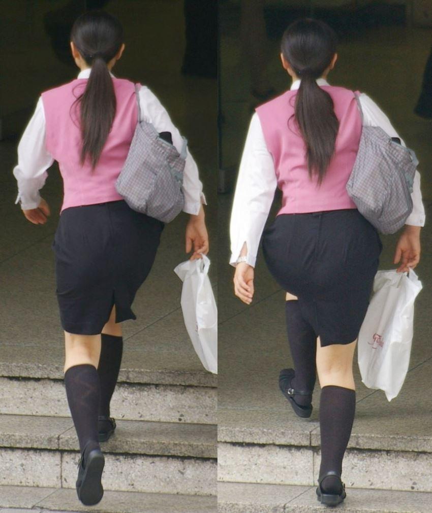 張りに張ったタイトスカートの布越しのエロ尻13枚目
