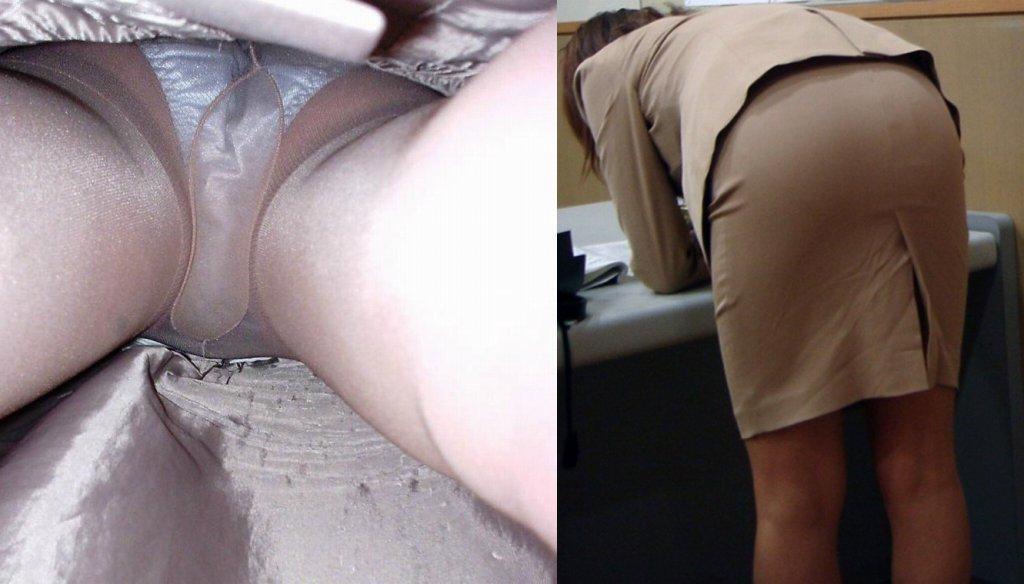 街行くタイトスカートOLの逆さ撮りエロ画像3枚目