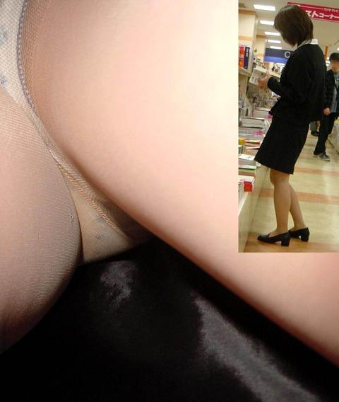 美人OL買い物中逆さ撮りパンストパンチラ盗撮画像5枚目