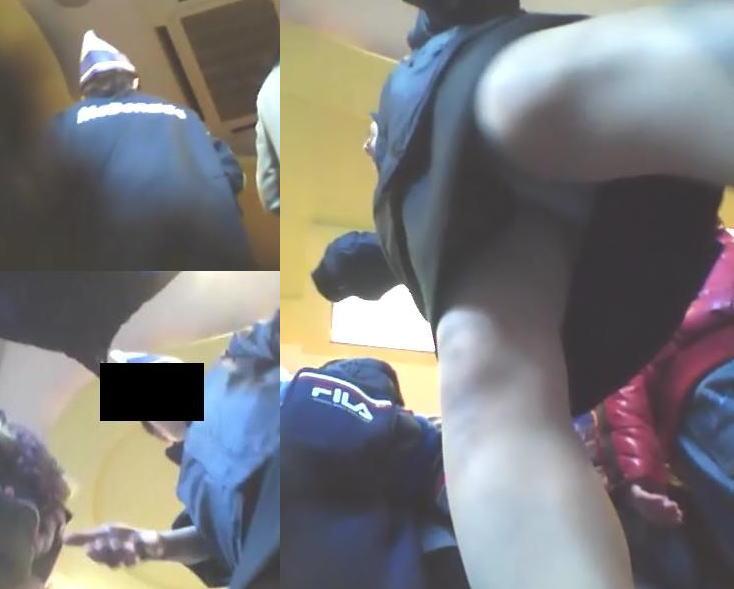 ファミレスやマクドナルド店員の逆さ撮り盗撮エロ画像14枚目