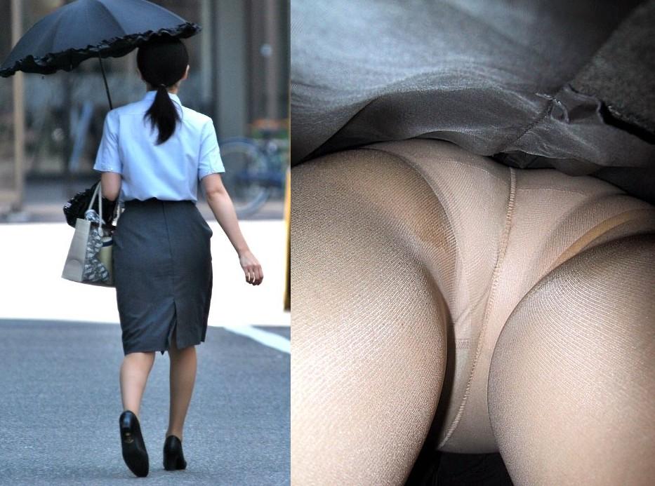 銀行員OLの逆さ撮りパンストパンチラ巨尻盗撮画像9枚目