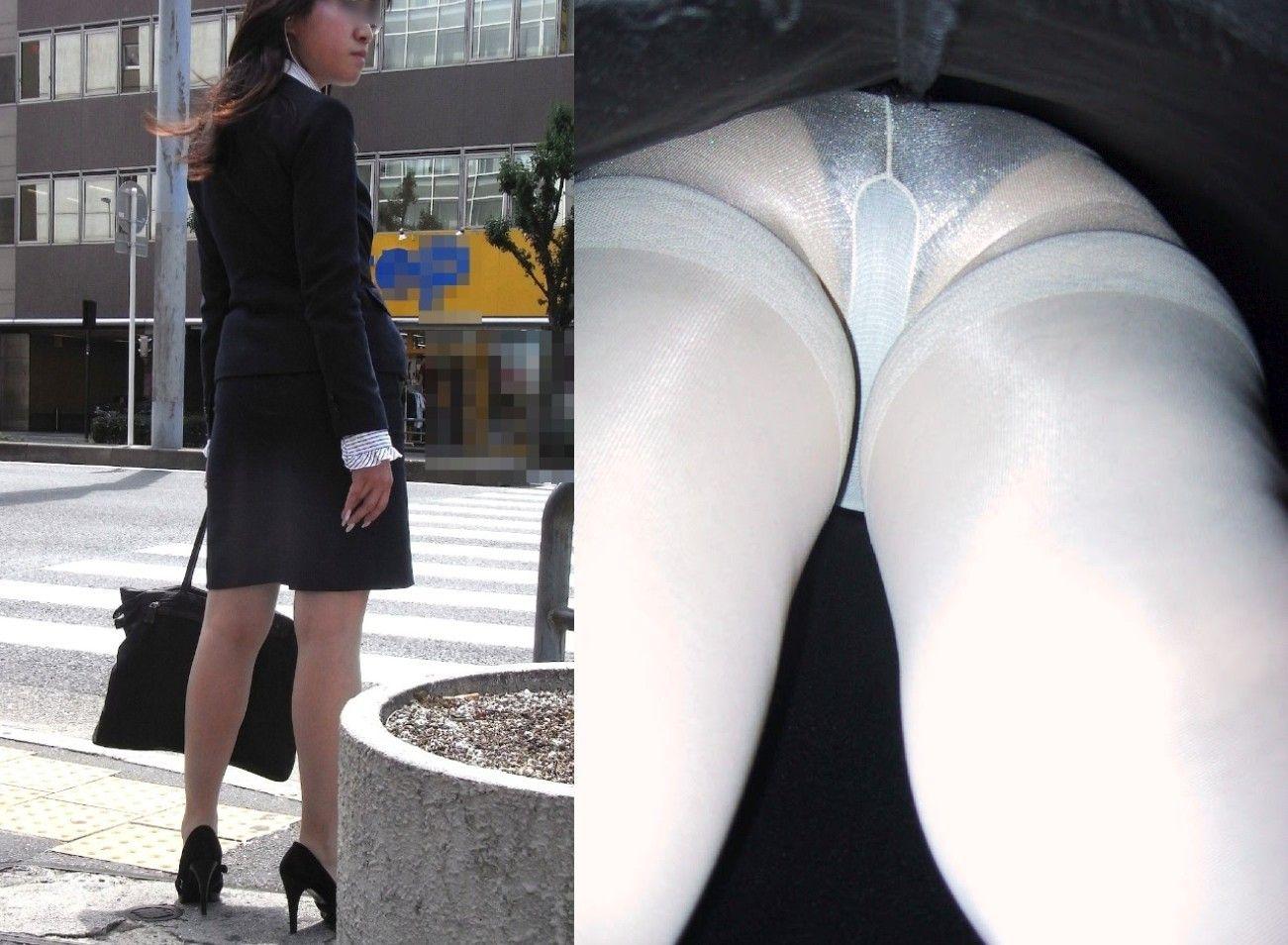 新人リクスーOLのタイトスカート逆さ撮り盗撮画像9枚目