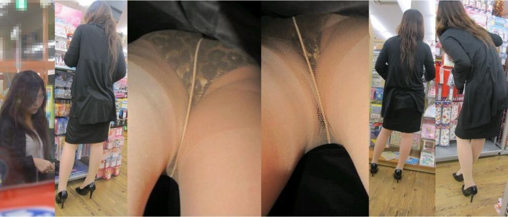 新人リクスーOLのタイトスカート逆さ撮り盗撮画像15枚目