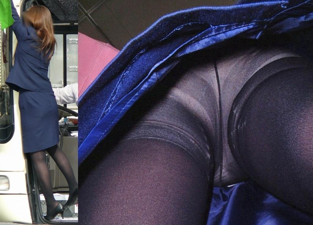 巨尻OLサテンタイトスカート逆さ撮り下着盗撮画像7枚目