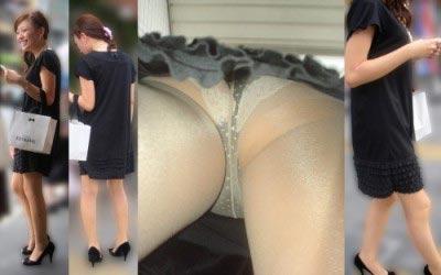 激写OL逆さ撮りのタイトスカートパンモロ盗撮エロ画像15枚目