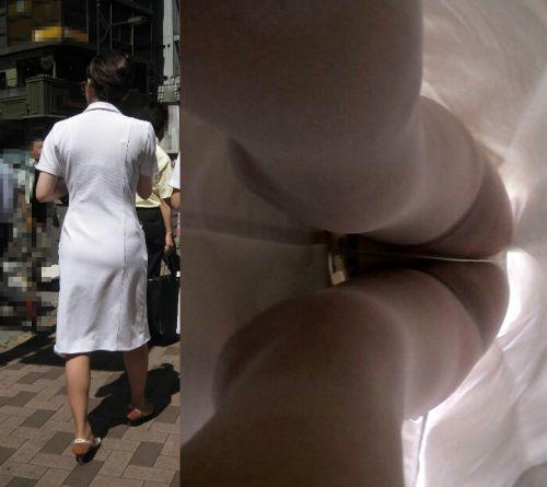 新人ナース透け白衣を逆さ撮りパンチラ盗撮エロ画像8枚目