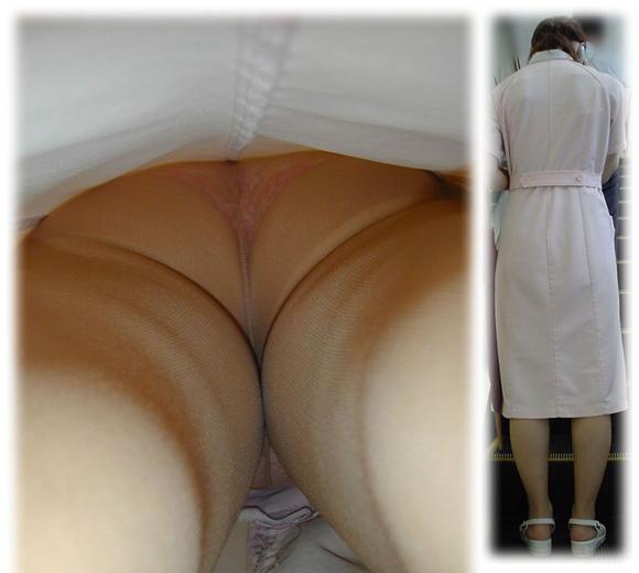 淫乱透け白衣ナースのパンチラ逆さ撮り流出エロ画像13枚目