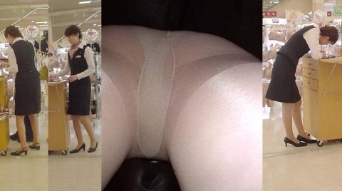 OLのムチムチタイトスカート逆さ撮り下着エロ画像8枚目