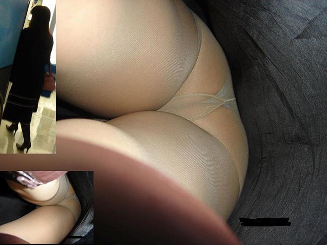 OLのムチムチタイトスカート逆さ撮り下着エロ画像12枚目