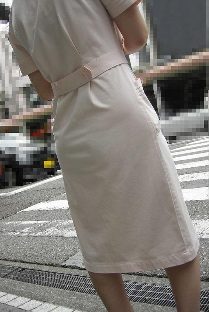 素人ナースの透け白衣ブラジャーとパンティエロ画像5枚目