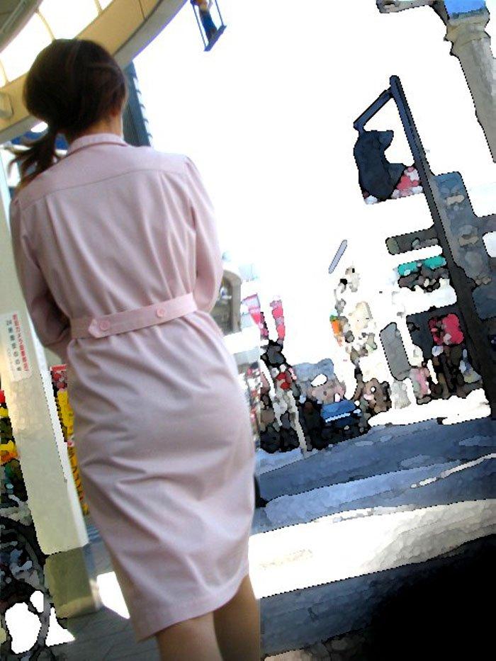 ナースの休憩中をストーカー透け白衣盗撮エロ画像11枚目