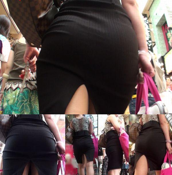 悶絶OLの街撮りタイトスカートフェチ盗撮エロ画像3枚目