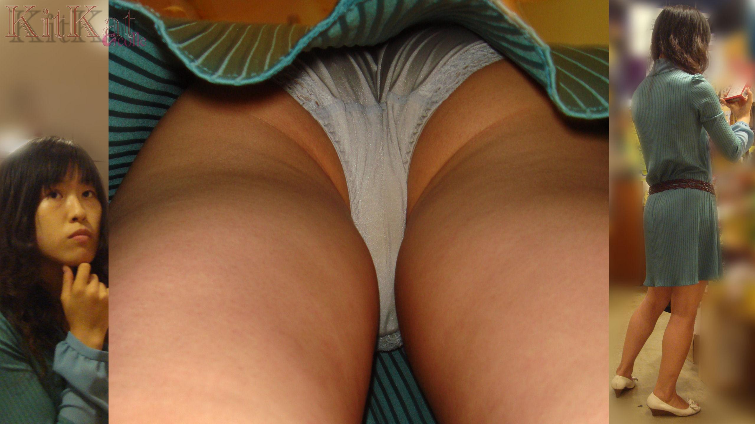 OLのタイトスカート逆さパンティ買い物中盗撮画像6枚目