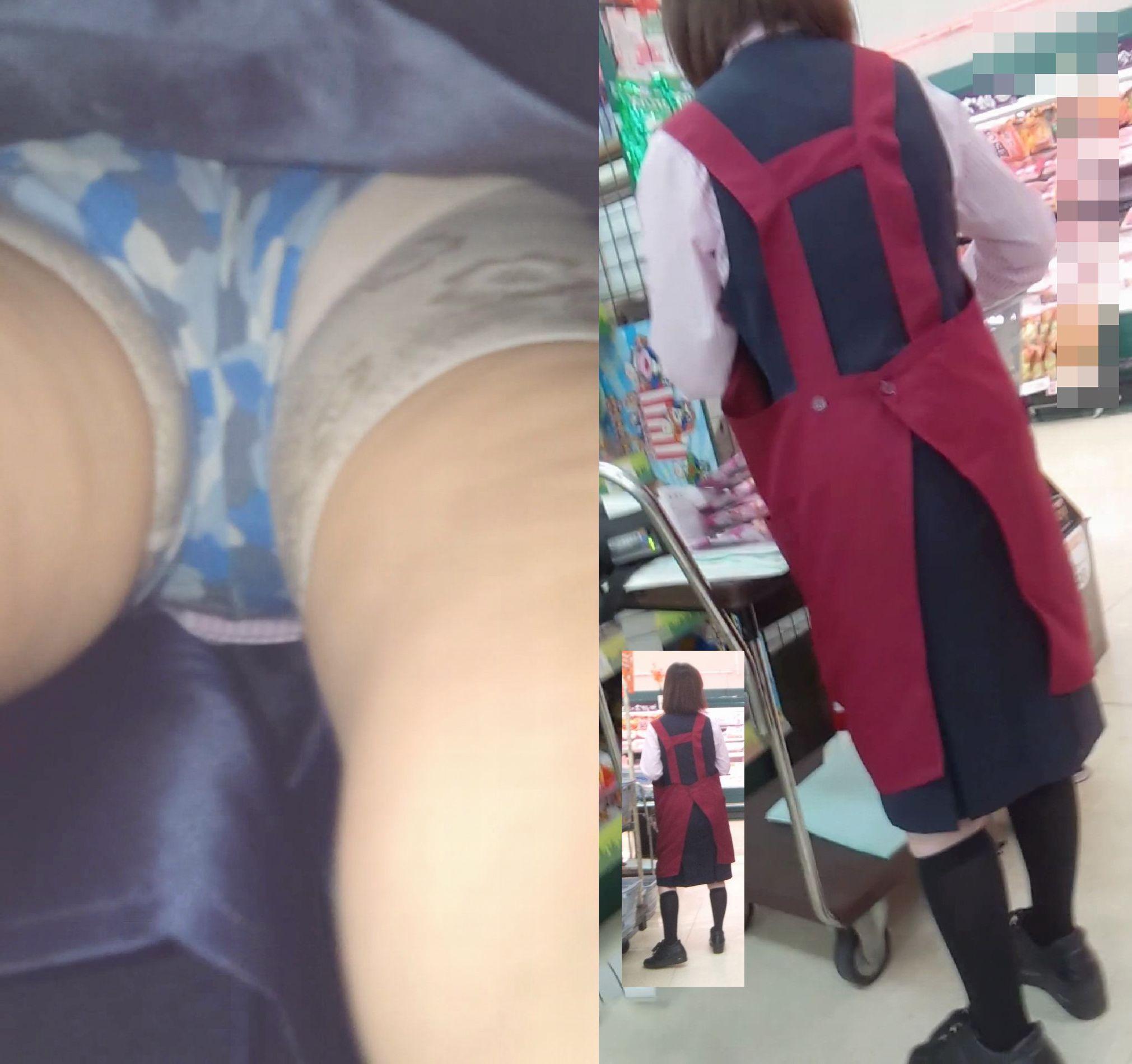 OLのタイトスカート逆さパンティ買い物中盗撮画像15枚目