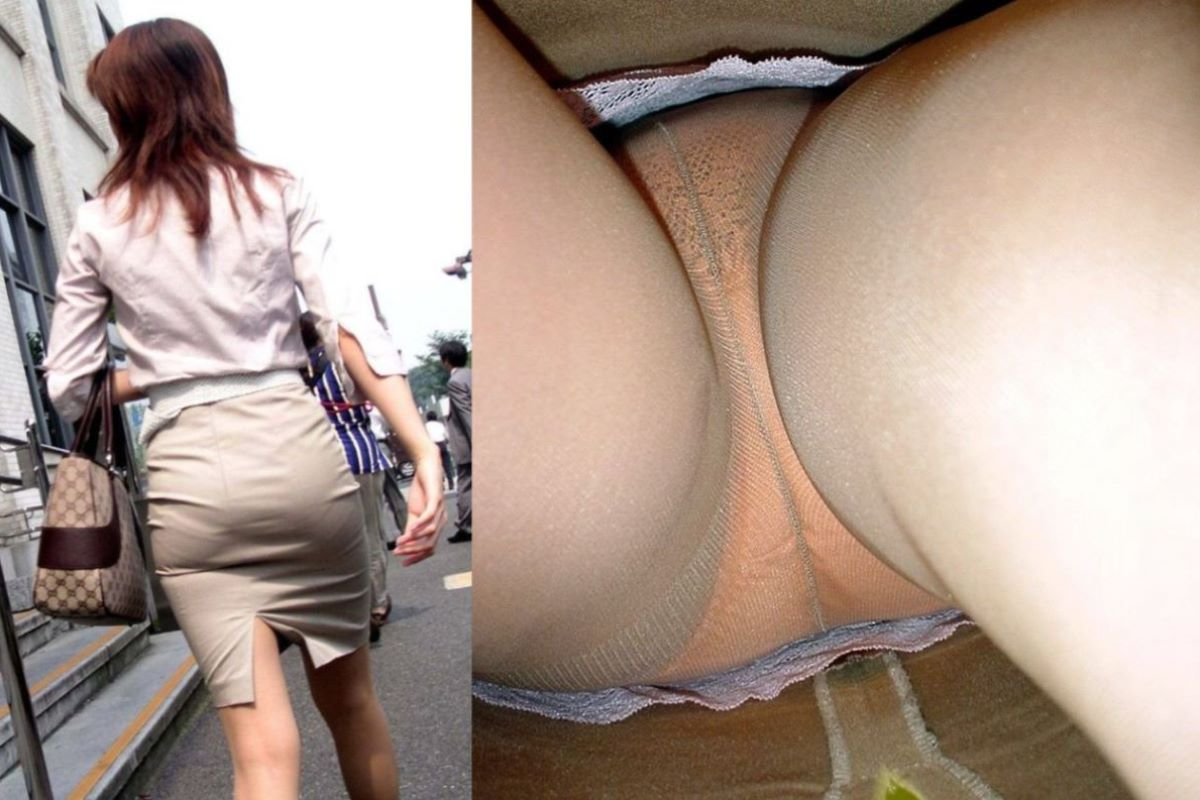 清楚なOLの逆さタイトスカート内盗撮エロ画像4枚目