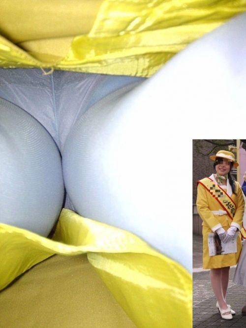 OLの極めたロングスカート逆さパンモロ盗撮エロ画像4枚目