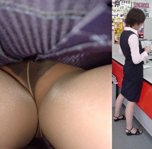 OLの極めたロングスカート逆さパンモロ盗撮エロ画像11枚目